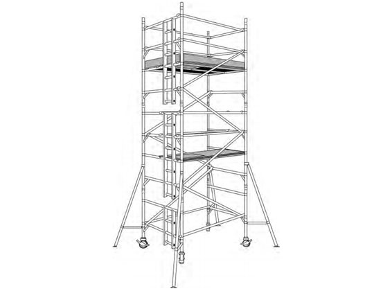Double width tower