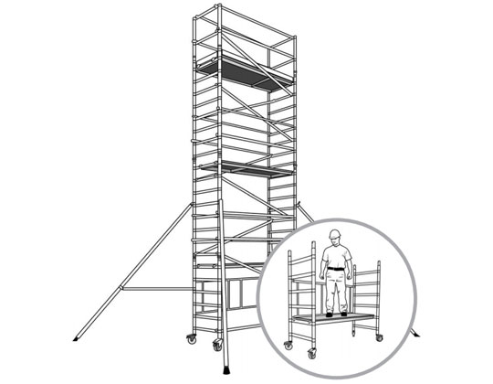 Single width tower